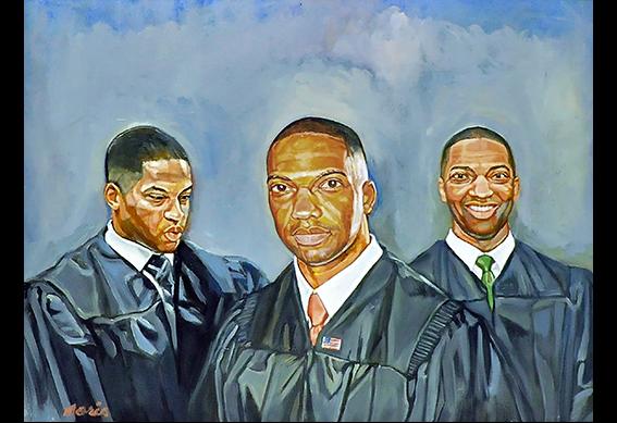 Judge Gerald Parker by Morris Howard