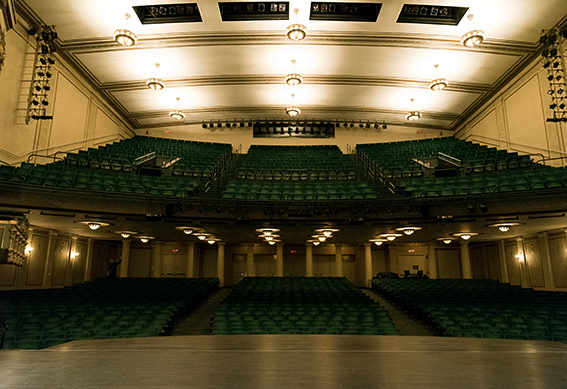 Victoria Theatre as seen from the stage