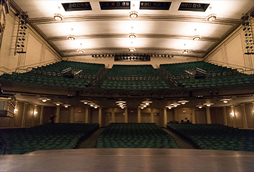 Stage and seating in an empty theatre